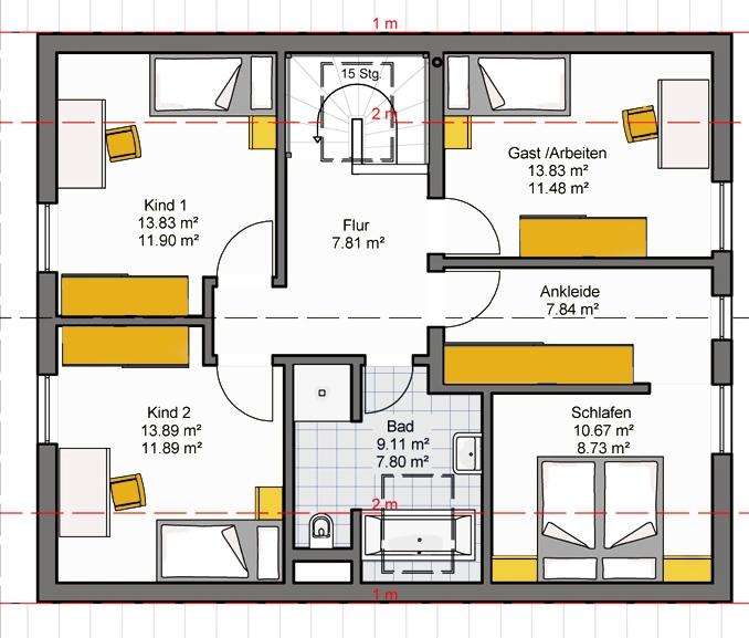 Casa pr fabricada 160 consulbroker for Progetto casa autocad