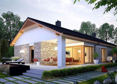 Casa em Madeira Pré-Fabricada 168. Tipologia T3. Fabrico Norges Hus. Eficiência energética A+ até A++. Conforto superior. Bem estar para toda a família. Temperatura variável interior 20º a 22ºC.