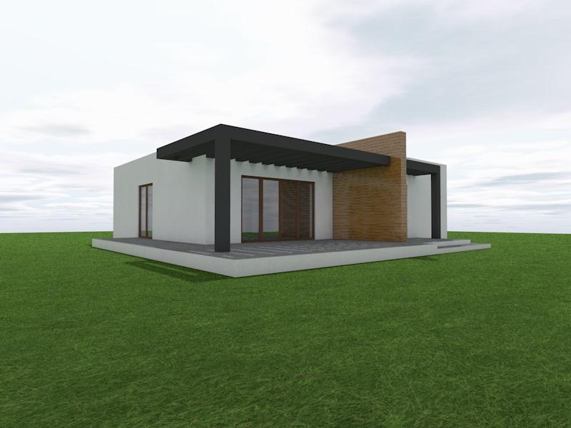 Casa Pré Fabricada com arquitetura moderna